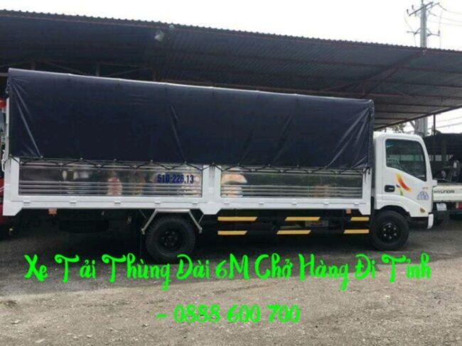 Xe tải chổ hàng dài 6m